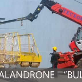 Sistemazione scalandrone sulla Bulwark