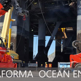 Ormeggio della piattaforma petrolifera Ocean Endeavor