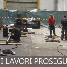 Costa Favolosa, i lavori proseguono in officina